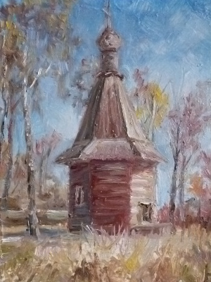 Nadezhda Georgievna Shatskaya. Chapel in the fall