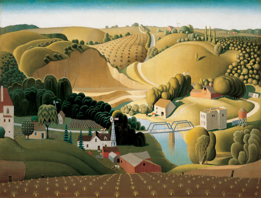 Grant Wood. Stone City, Iowa