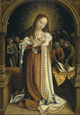Бернард ван Орлей. Богоматерь, кормящая младенца (Святое молоко)