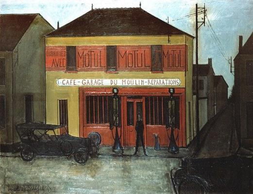 Bernard Buffet. Le garage du Moulin