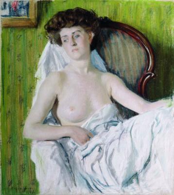 Boris Kustodiev. Portrait of a lady. Model