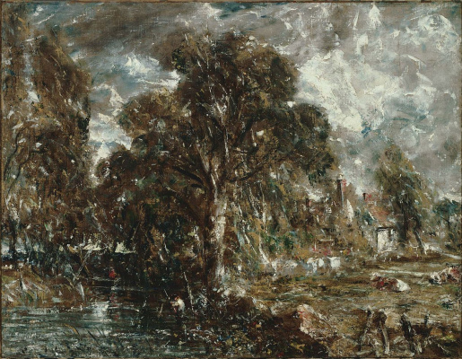 John Constable. On the river Stour, England