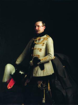 Sergey Konstantinovich Zaryanka. Portrait of Lieutenant Life Guards Gusar Regiment Alexander Dmitrievich Ponomarev