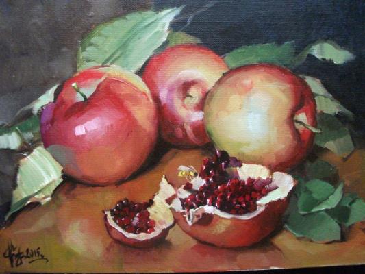 Sergey Anatolevich Bondaryuk. Etude with pomegranate