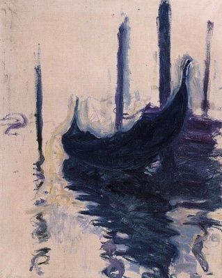 Claude Monet. Gondola in Venice