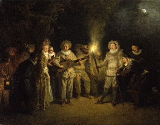 Antoine Watteau. Italian Comedy
