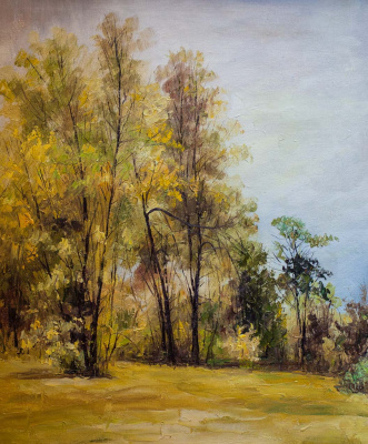 Andrew Shararin. Landscape in autumn colors