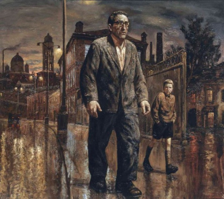 Vasily Vladimirovich Shulzhenko. Walks with his father in Moscow at night