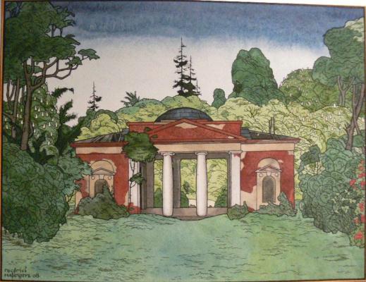 """Георгий Иванович Нарбут. Pavilion """"Old Milovida"""" in Tsaritsyno"""