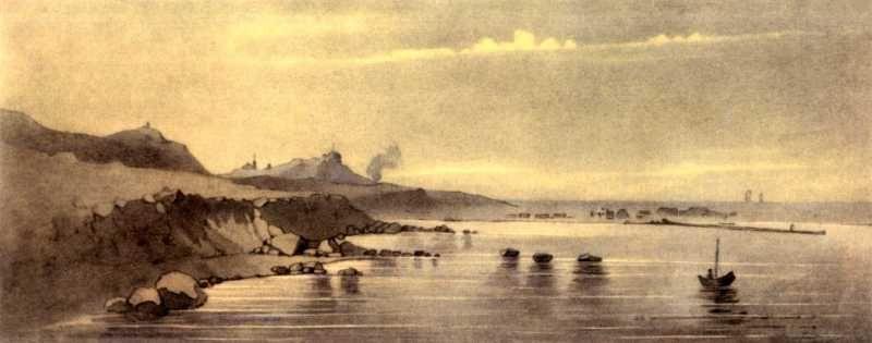 Taras Grigorievich Shevchenko. Novopetrovsk Fort from the sea