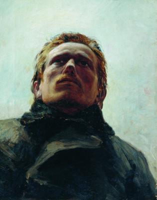 Николай Александрович Ярошенко. Голова заключенного. 1878 Этюд