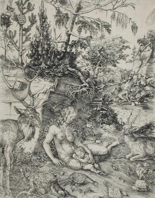Lucas Cranach the Elder. The penance of St. John Chrysostom