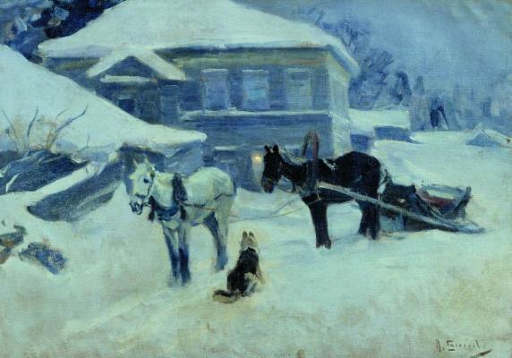 Алексей Степанович Степанов (1780-1887). Постоялый двор. 1912