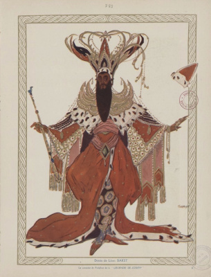 Lev Samoilovich Bakst (Leon Bakst). Costume design for Potiphar in the ballet The Legend of Joseph