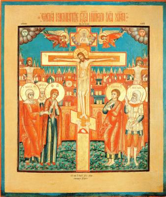 Icon Painting. Crucifixion of Christ (Nevyansk)