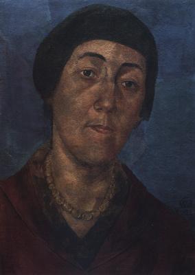 Kuzma Sergeevich Petrov-Vodkin. Portrait of M. F. Petrova-Vodkina, wife of the artist