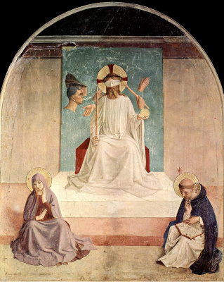 Fra Beato Angelico. The mockery of Christ. Fresco of the Monastery of San Marco, Florence
