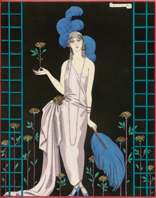 Georges Barbier. Sketch of a dress