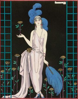 Жорж Барбье. Эскиз платья