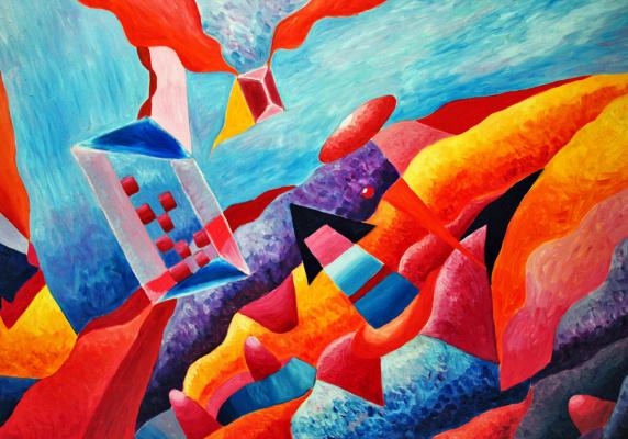 """Irina Shumskaya. The painting """"Cosmic History"""" Irina SHUMSKAYA"""