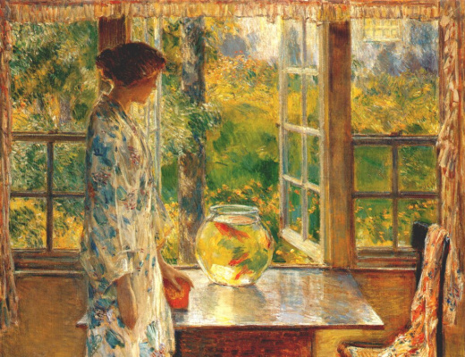Childe Hassam. Bowl of Goldfish