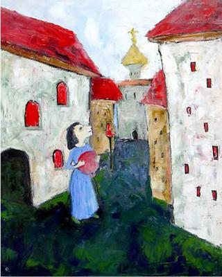 Svyatoslav Ryabkin. Girl with balloon Girl with balloon