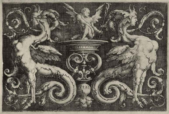 Lucas van Leiden (Luke of Leiden). Ornament with griffins