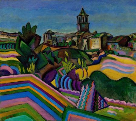 Joan Miro. The Village Of Prades