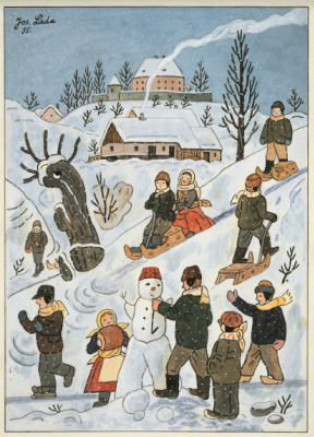 Josef Lada. Kids winter