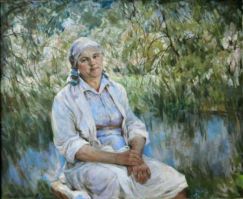 Владимир Иванович Бичевой. Portrait of milkmaid Suvalova