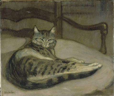 Theophile-Alexander Steinlen. Cat on a chair