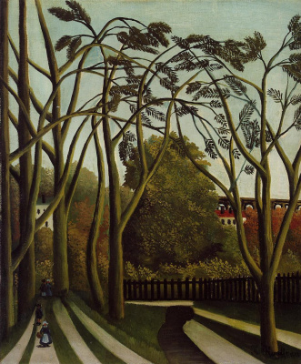Henri Rousseau. Landscape on the banks of the river
