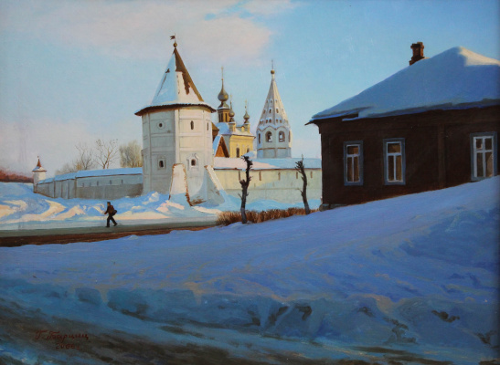 Gennady Shotovich Bartsits. Frosty day in Yuryev-Polsky