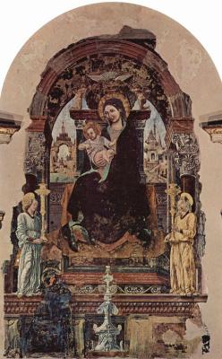 Франческо дель Косса. Мадонна, фрагмент
