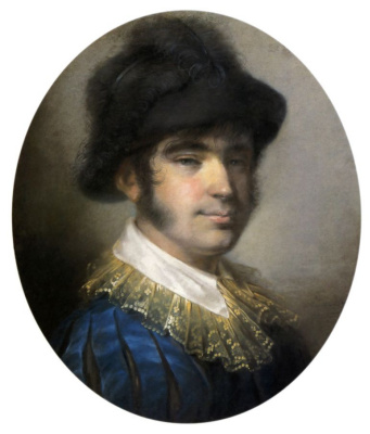 Alexey Gavrilovich Venetsianov. Portrait of a young man in Spanish costume