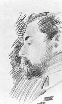 Джон Сингер Сарджент. Автопортрет в профиль