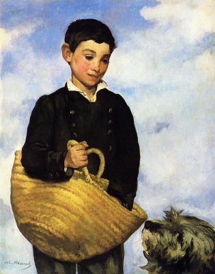 Edouard Manet. Boy with a dog
