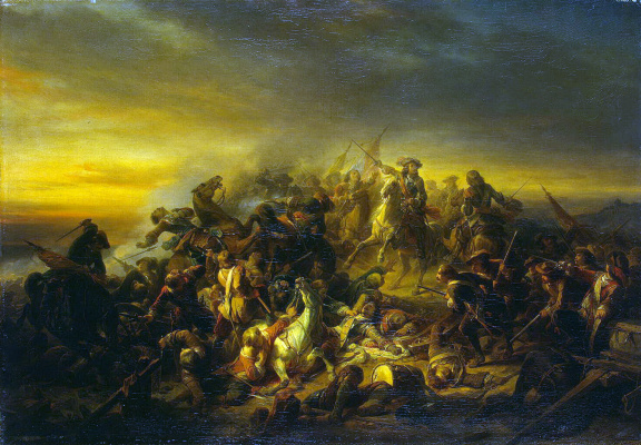 Де Никез Кейзер. Сражение при Сенефе