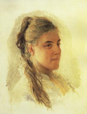 Nikolai Nikolaevich Ge. Portrait Of Ekaterina Zabello. Etude