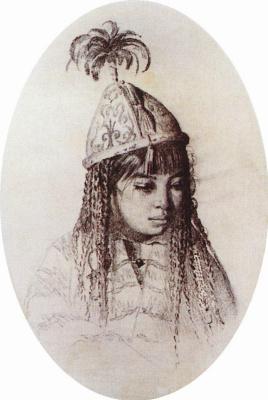 Василий Васильевич Верещагин. Киргизская девушка