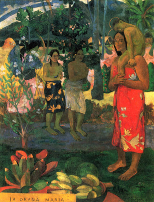 Paul Gauguin. We pray to you, Mary