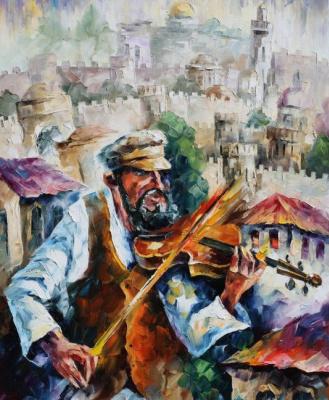 Leonid Afremov. Violinist