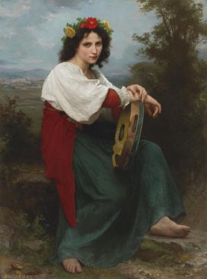 Адольф Вильям Бугро. Итальянка с тамбурином