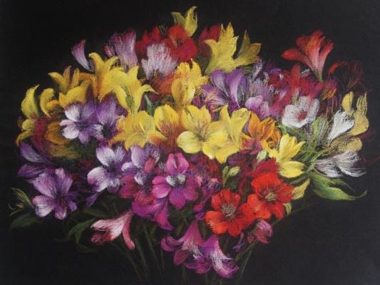 Екатерина Ивановна Киселева. Bouquet of alstroemerias