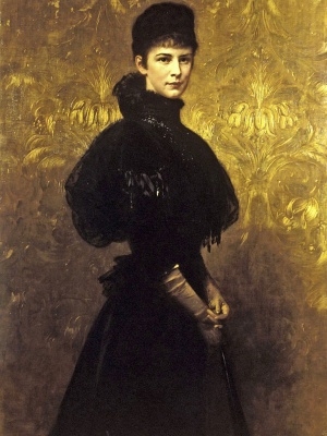 Gyula Benzur. Empress Elizabeth of Austria in mourning dress
