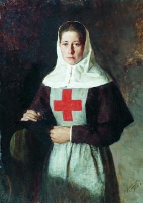 Nikolay Aleksandrovich Yaroshenko. Sister of Mercy. 1886