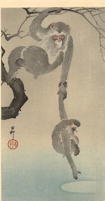 Охара Косон. Две обезьяны