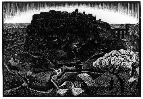 Maurits Cornelis Escher. Vitorciano in Cimino