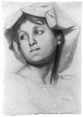 Edgar Degas. A young Roman woman