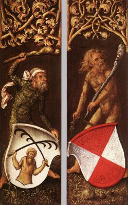 Albrecht Durer. Sylvanas with heraldic shields